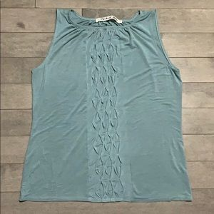 Michael Stars Rayon Ruched Front Tank - One Size